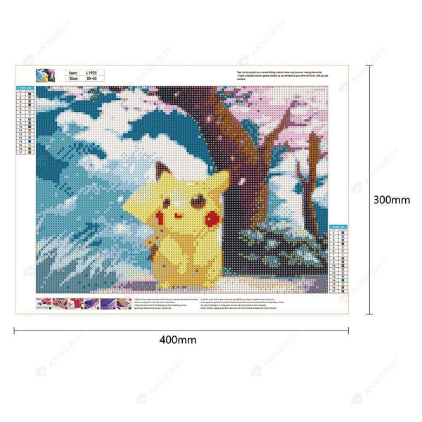 Diamond Painting -DIY Full Round Drill Pikachu