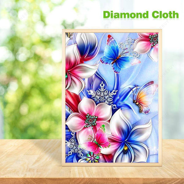 Diamond Painting -DIY Crystal Rhinestones Partial Drill Abstract Flower