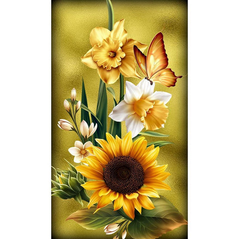 Diamond Painting-5D Full Round Drill Flower(30X48)