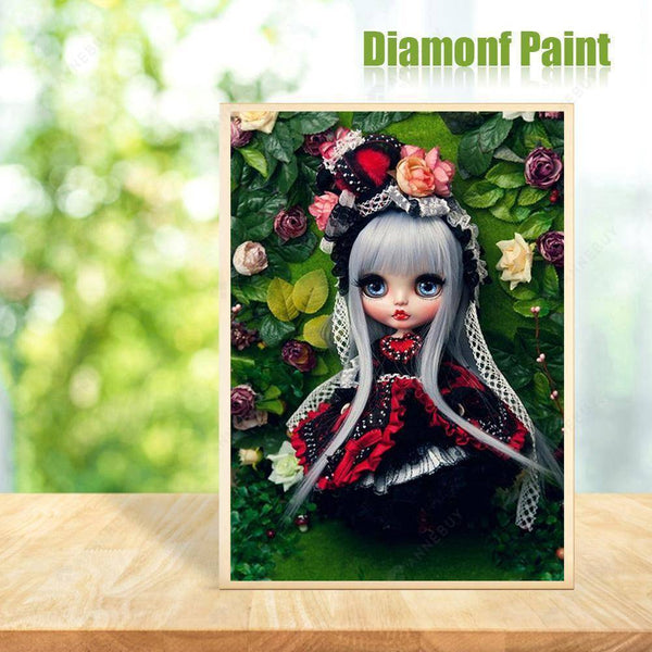 Diamond Painting -DIY Full Round Drill Doll