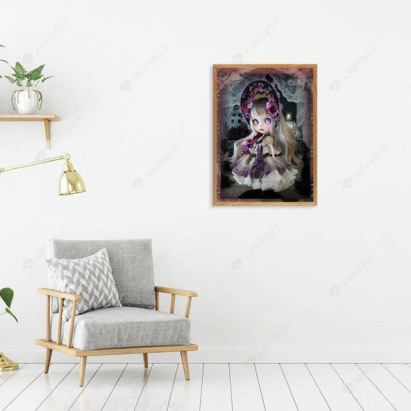Diamond Painting -DIY Full Round Drill Noble Doll
