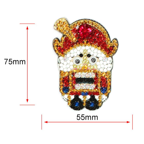 4pcs DIY Soldier Full Drill Special Shaped Diamond Painting Bag Keychains