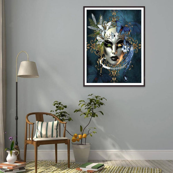 Diamond Painting -Full Round Drill Skeleton Mask