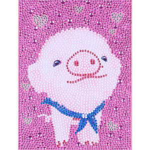 DIY Diamond Painting -Full Crystal Rhinestone Cartoon Pink Pig