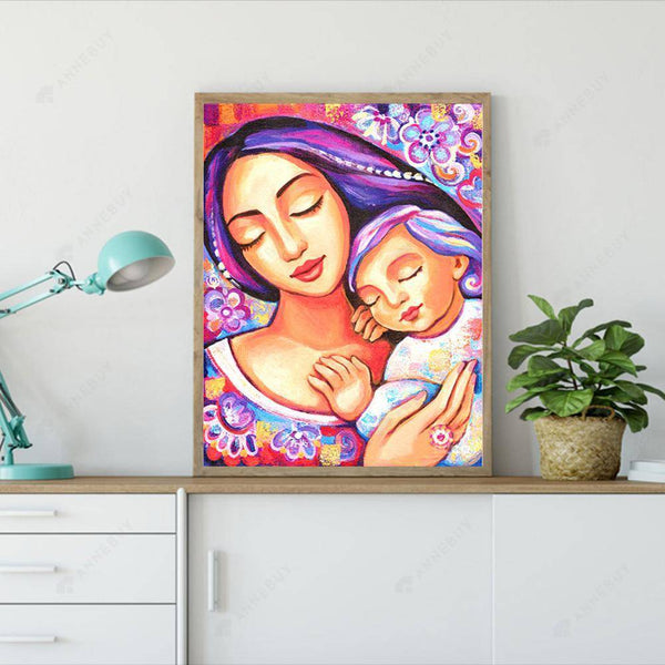 Diamond Painting -Full Square Drill Mother And Child Full Of Love