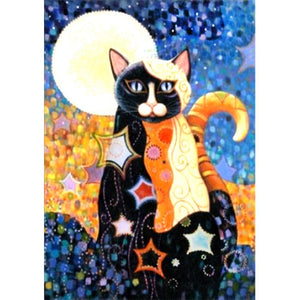 Diamond Painting-5D Full Square Drill Patterned Cat