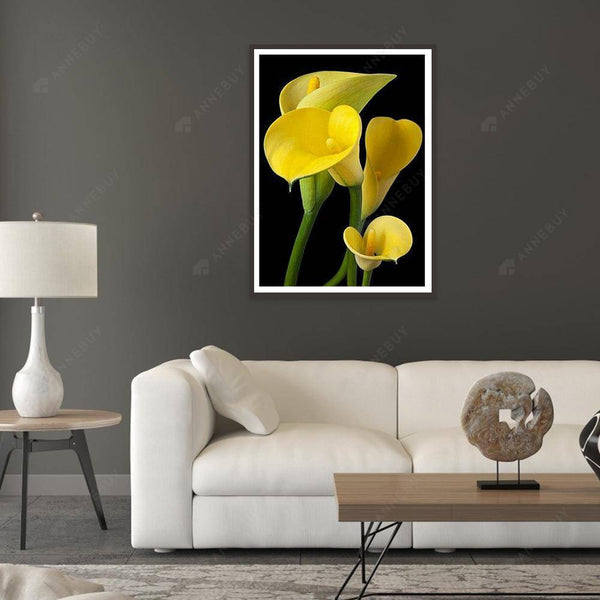 Diamond Painting -Full Round Drill Calla Lily Flower