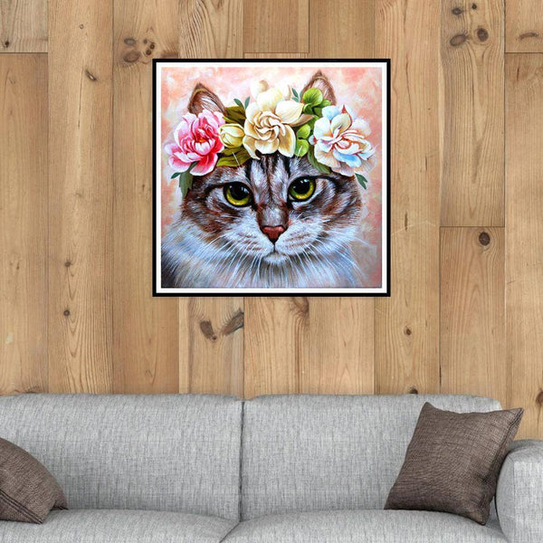 Diamond Painting -Full Square Drill Cat Girl