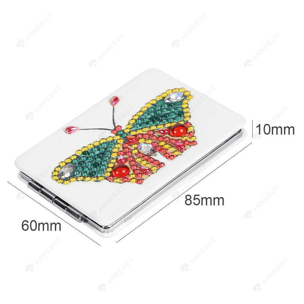 Diamond Painting Mini Makeup Vanity Mirror -DIY Crystal Rhinestone Unique Butterfly