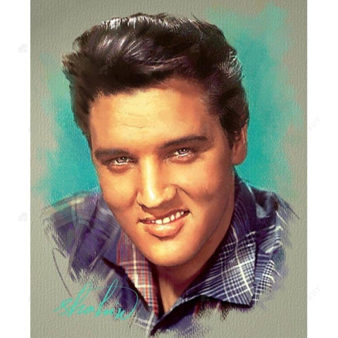 Diamond Painting-5D Full Round Drill Charming Elvis