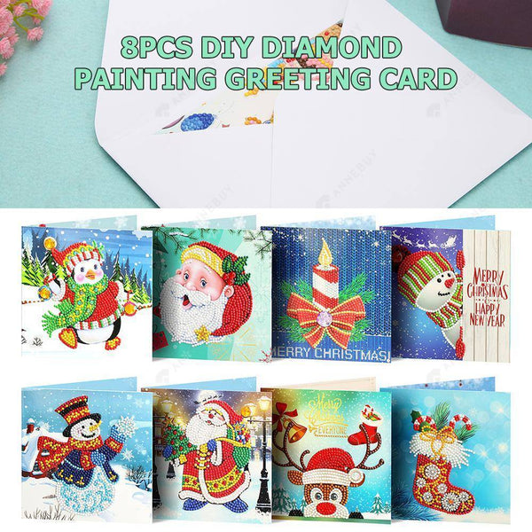 8pc DIY Diamond Painting Greeting Card Special Shaped Birthday  Gift