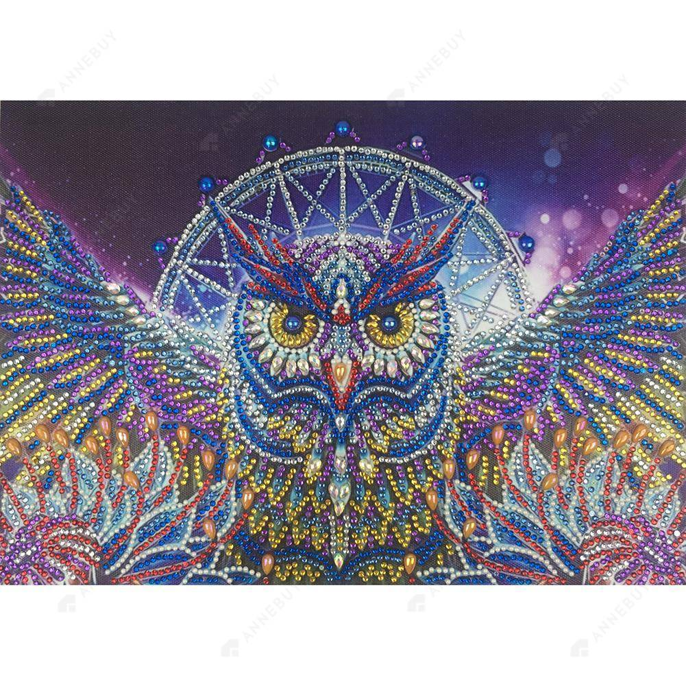 Diamond Painting -DIY Crystal Rhinestone Waving Owl