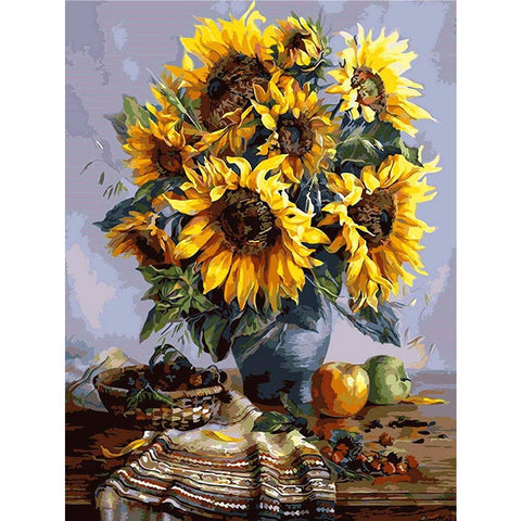 Diamond Painting-DIY Full Round Drill Sunflower (50*40cm)