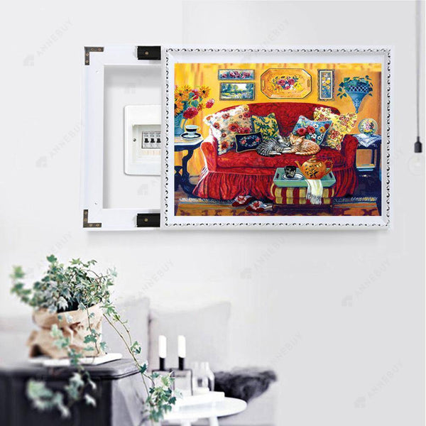Diamond Painting -Full Square Drill Warm Living Room