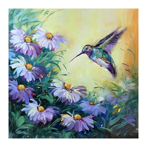 Diamond Painting -DIY Full Round Drill Flowers Bird