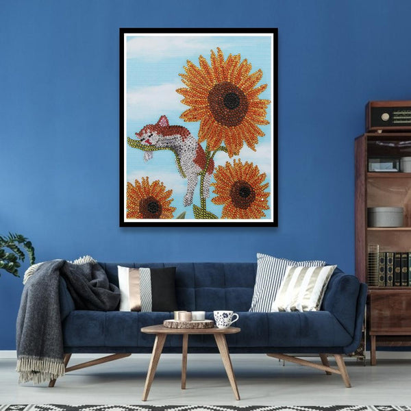 Diamond Painting-DIY Crystal Rhinestone Sunflower