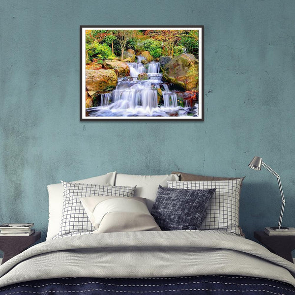 Diamond Painting-5D Full Round Drill Mountain Waterfall