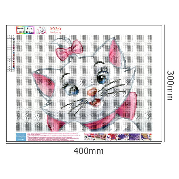 Diamond Painting -DIY Full Round Drill Cartoon Cat