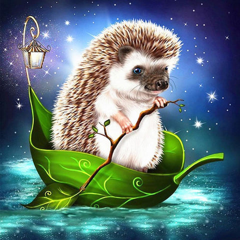 Diamond Painting-5D Full Round Drill Hedgehog