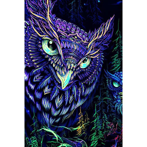 Diamond Painting-DIY Full Round Drill Owl