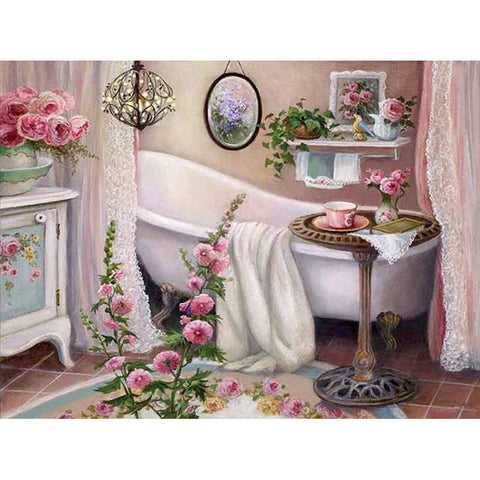 Diamond Painting-5D Full Round Drill Bathtub