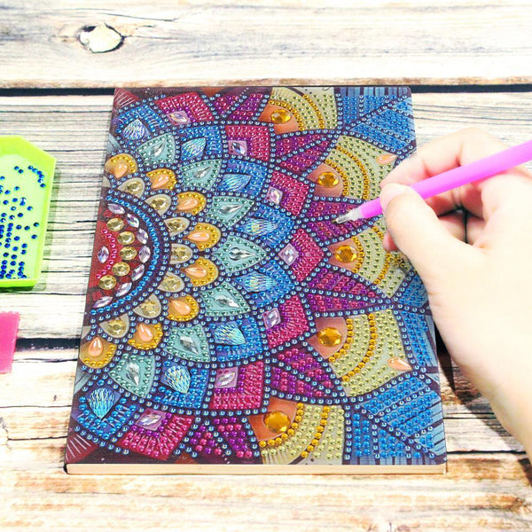 DIY Crystal Rhinestones Diamond Painting Colorful Notebook