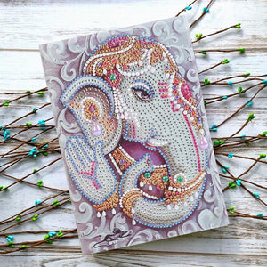 DIY Crystal Rhinestones Diamond Painting Elephent Notebook