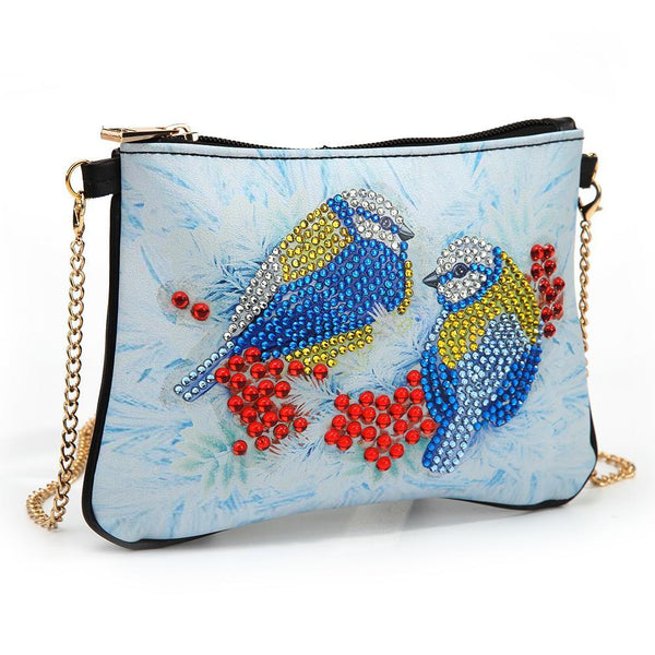 DIY Bird Special Shaped Diamond Painting Women Leather Chain Shoulder Bags