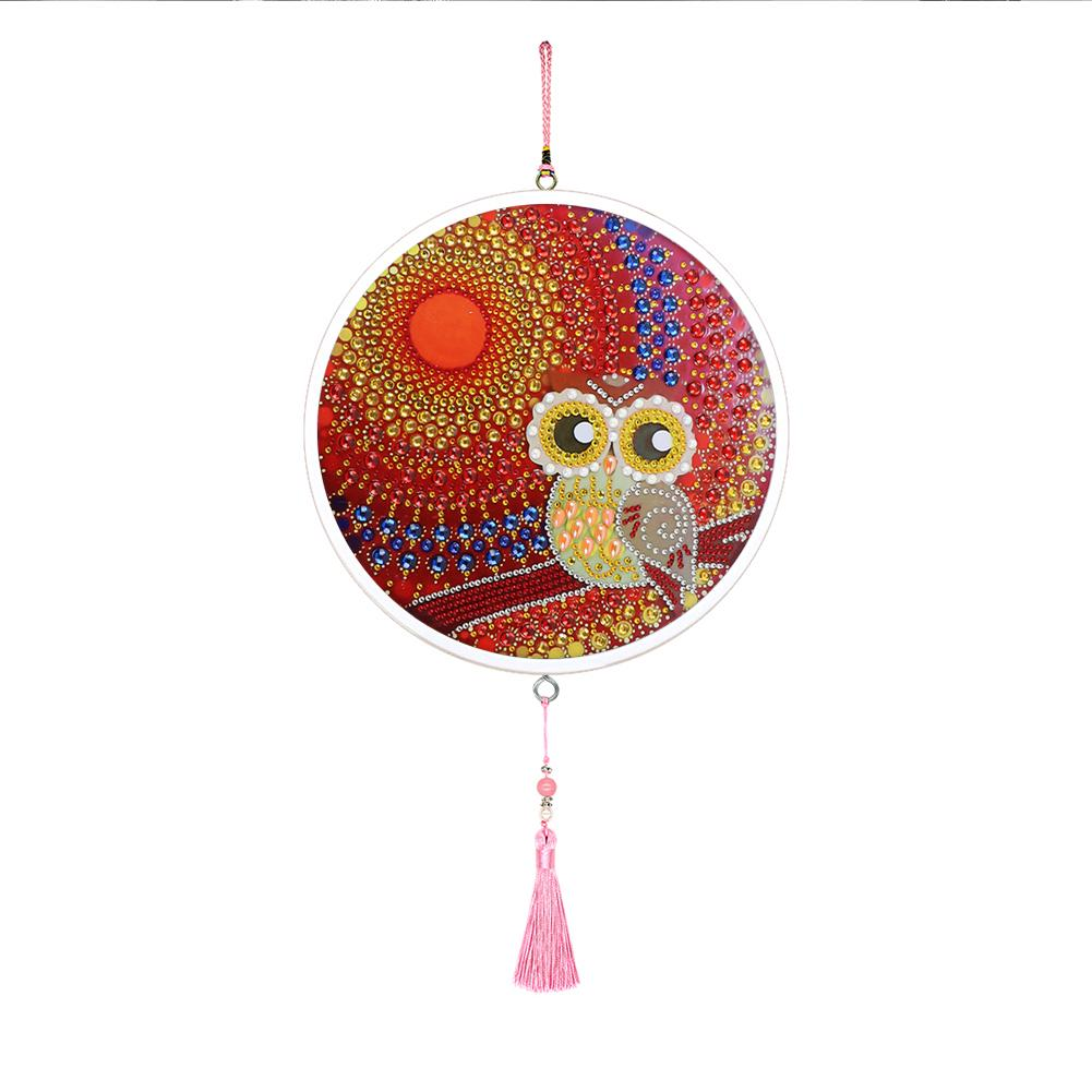 DIY Diamond Painting Owl Tassel Wall Picture Poster Cross Stitch Embroidery