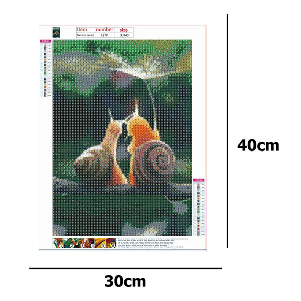Diamond Painting -Full Round Drill Snails