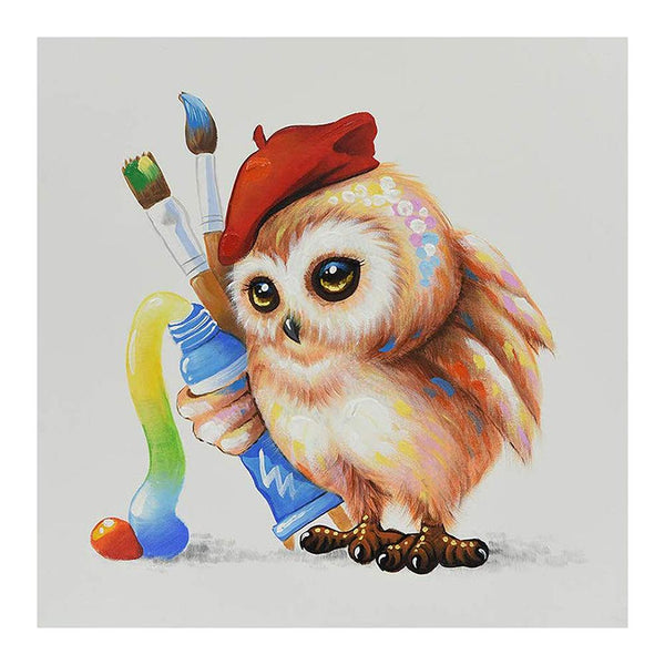 Diamond Painting -Full Round Drill Owl
