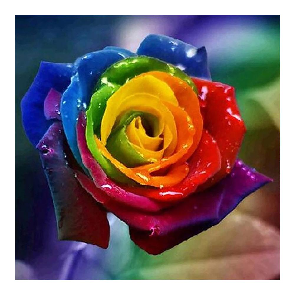 Diamond Painting -Full Round Drill Colorful Flower