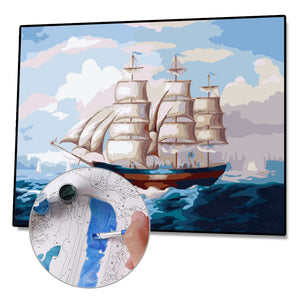 Paint By Numbers-DIY Sailing Ship(40*50 CM)