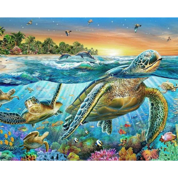 Paint By Numbers-DIY Turtle (40*50 CM)