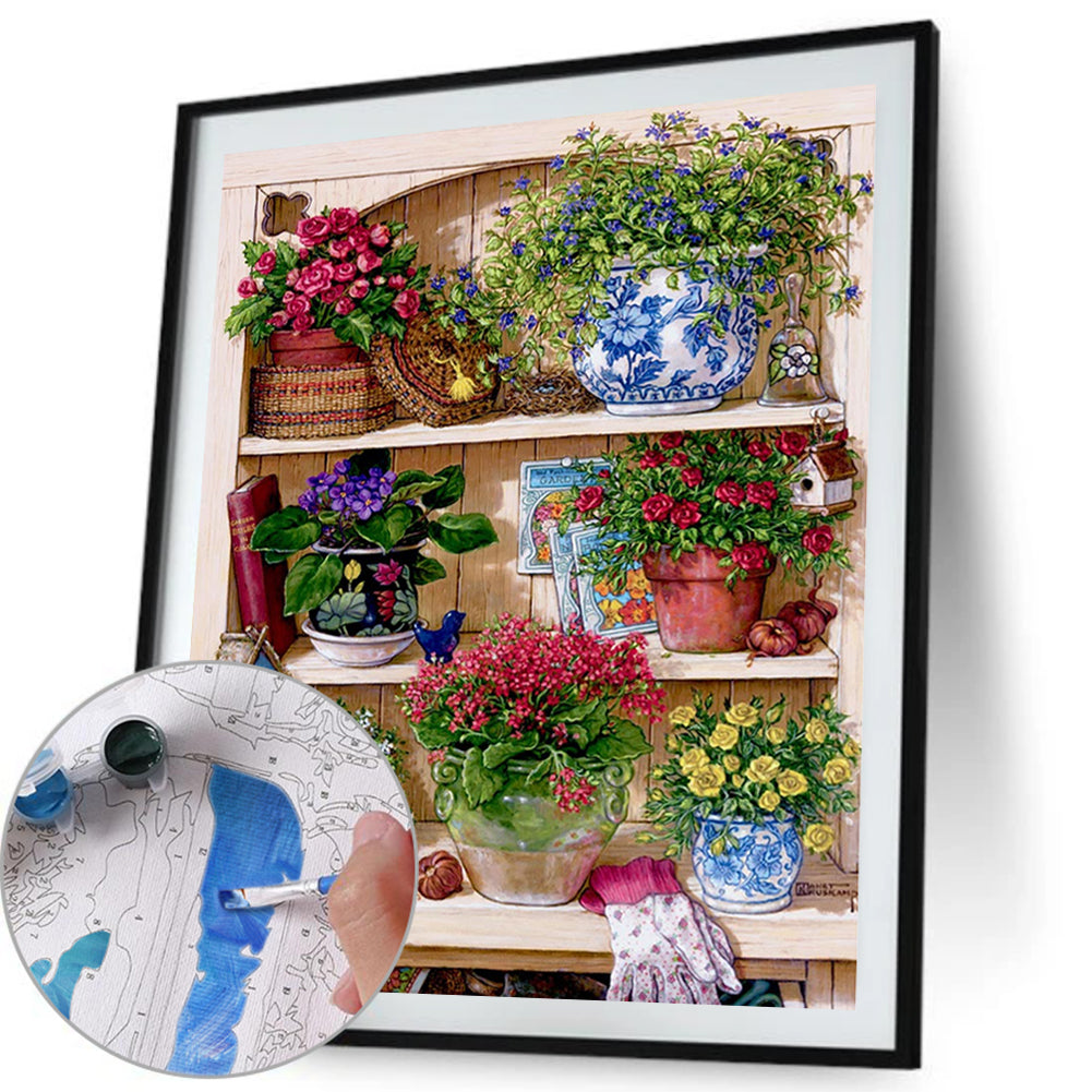 Paint By Numbers-DIY Flower Rack(40*50 CM)