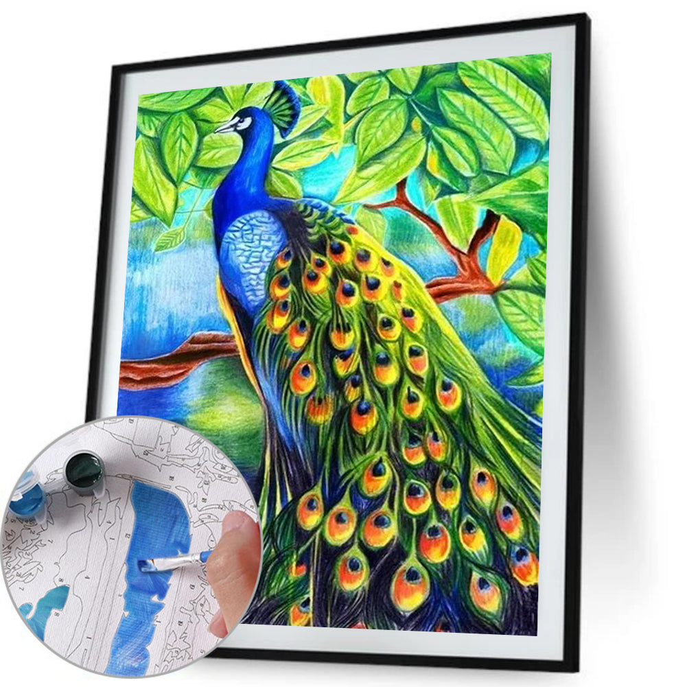 Paint By Numbers-DIY Peafowl (40*50 CM)