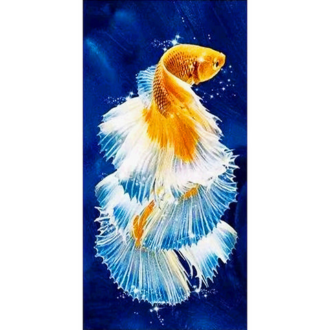 Diamond Painting-DIY Full Round Drill Fish (85x45cm)