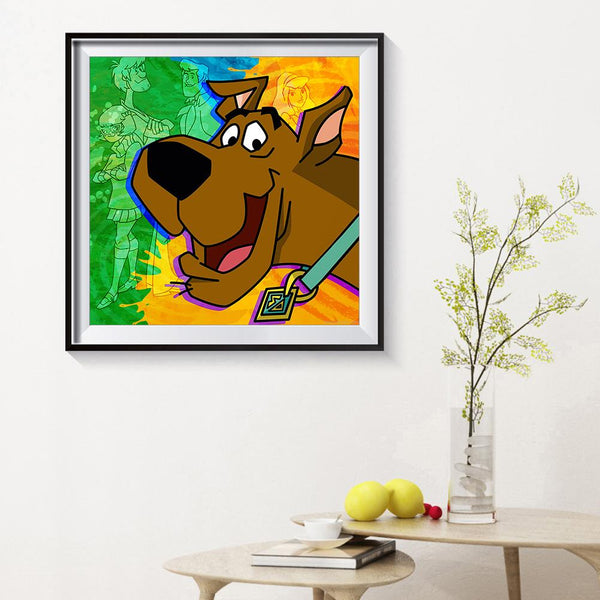 Diamond Painting-5D Full Round Drill Scooby