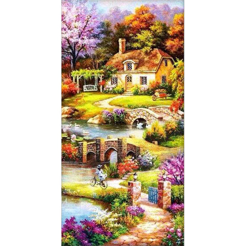 Diamond Painting-5D Full Round Drill Dream Home(85*45cm)