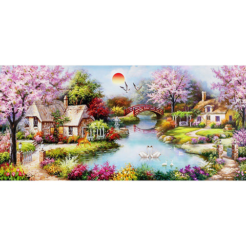 Diamond Painting-DIY Full Round Drill Dream Home(50*100 cm)