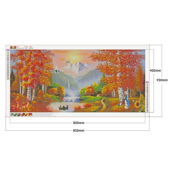 Diamond Painting-DIY Full Round Drill Autumn scenery(50*100 cm)