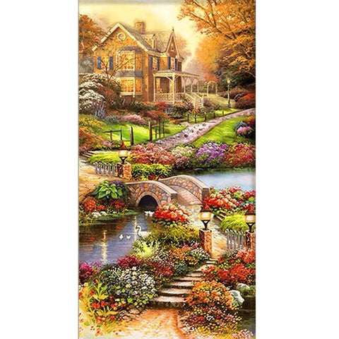Diamond Painting-5D Full Round Drill Beautiful Castle(85*45cm)