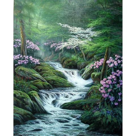 Diamond Painting-5D Full Round Drill Nature Brook