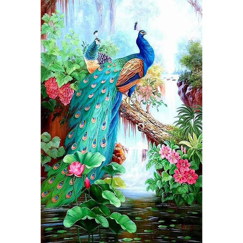 Diamond Painting-5D Full Round Drill Peafowl