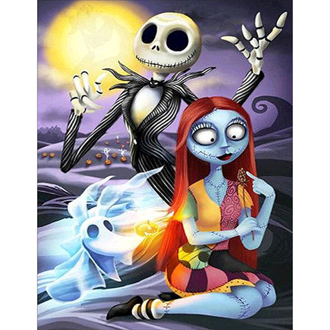 Diamond Painting-DIY Full Round Drill Nightmare Before Christmas(40*50cm)