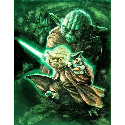 Diamond Painting-DIY Full Round Drill Yoda(40*50cm)
