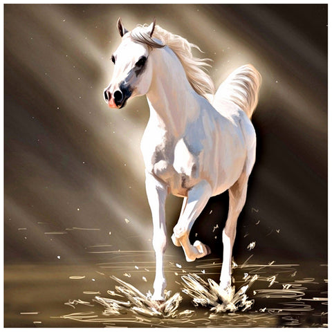 Diamond Painting-5D Full Drill Horse
