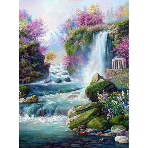 Diamond Painting-5D Full Square Drill Waterfall (40*50 cm)