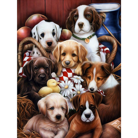 Diamond Painting-5D Full Square Drill Dog (40*50 cm)