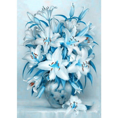 Diamond Painting-5D Full Square Drill Elegant Flowers(40*50 cm)